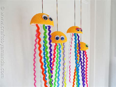 make crafts rainbow jellyfish craft crafts by amanda