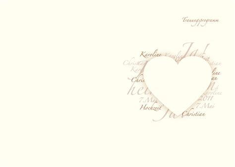 Hochzeitseinladung Deckblatt by Kirchenhefte Herzensworte
