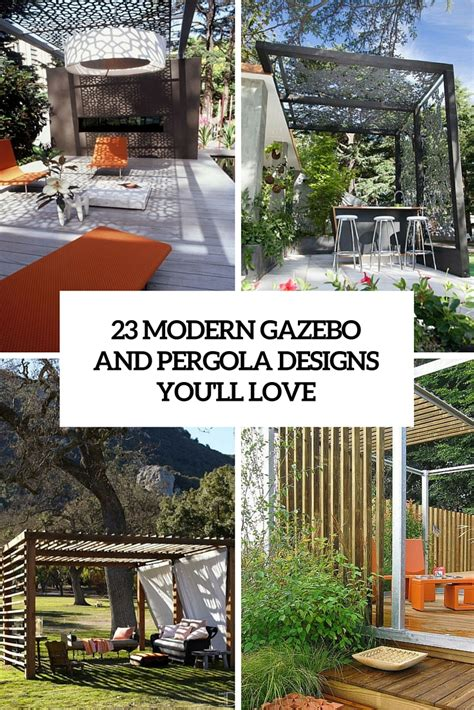 gazebo e pergole 23 modern gazebo and pergola design ideas you ll