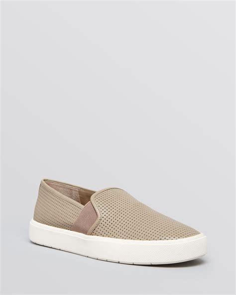 vince slip on sneakers sale vince blair 5 flat slip on sneakers in brown woodsmoke