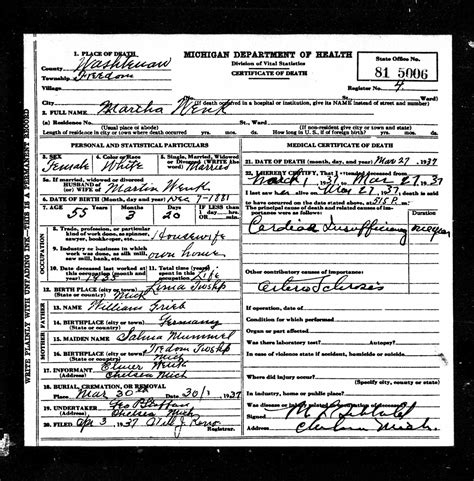 Washtenaw County Marriage License Records Grieb Genealogy