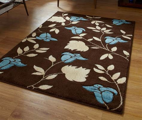 flower pattern rugs brown and blue floral flower pattern modern rug in choice