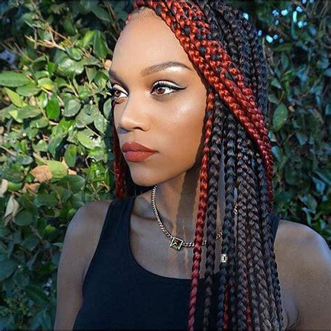 red weave color in poet justice braids 51 hot poetic justice braids styles page 2 of 5 stayglam