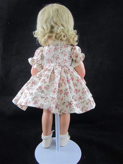 composition doll bodies for sale compo dress pink floral back professional doll