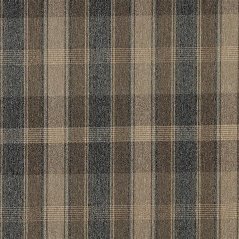 country upholstery fabric dark blue and beige large plaid country tweed upholstery