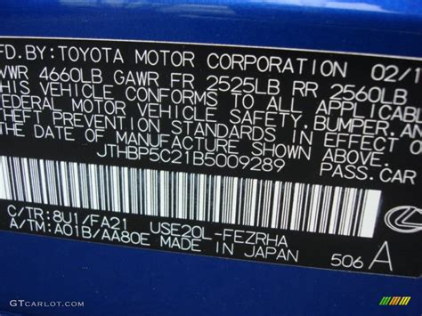 lexus blue color code lexus isf blue color code