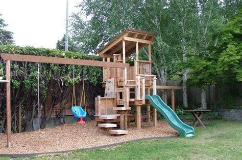 play structure with floating steps for the home