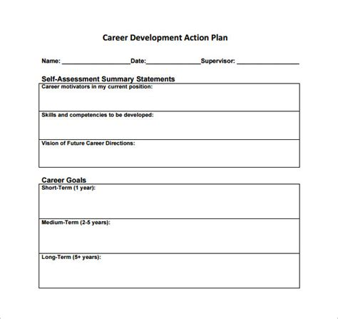 Career Action Plan Template 14 Free Sle Exle Format Download Free Premium Templates 5 Year Career Plan Template