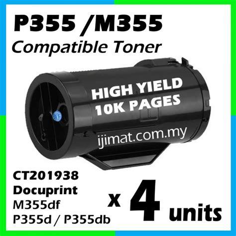 Toner Fuji Xerox Docuprint M355df P355d P355db High Capacity fuji xerox p355 p355d p355db m355 m355df ct201938 high yield compatible laser toner