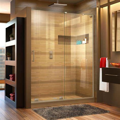 bathroom doors for sale shop dreamline mirage x 44 in to 48 in frameless brushed