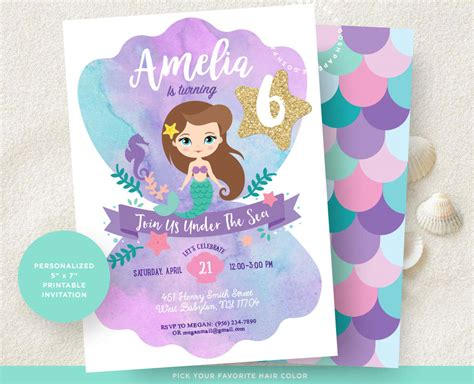 printable mermaid invitations mermaid invitation mermaid invitation mermaid