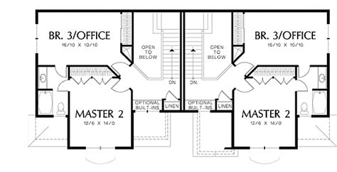 High Ceiling House Plans by High Ceiling Duplex With Options 6984am Architectural