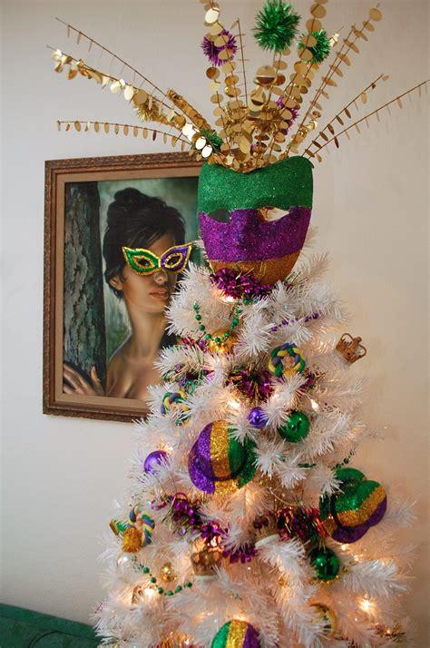 diy mardi gras decorations festive glittered diy mardi gras mask tree topper