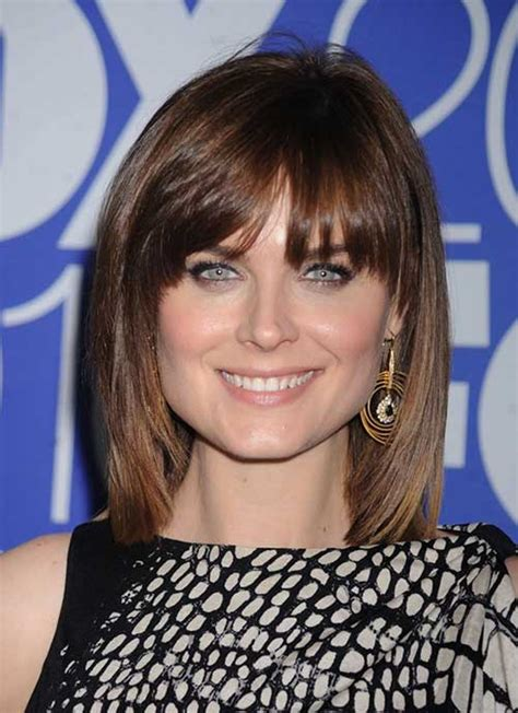 medium straight hairstyles with bangs 20 haircuts medium hair ideas hairstyles haircuts 2016