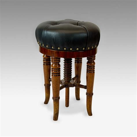 Vintage Piano Stool by Revolving Piano Stool Antique Furniture