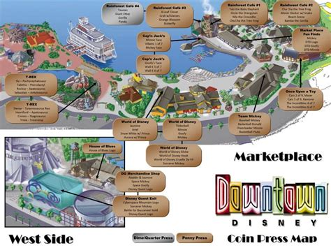 map of downtown disney downtown disney pressed pennies map mickey magic disney pennies and pressed pennies