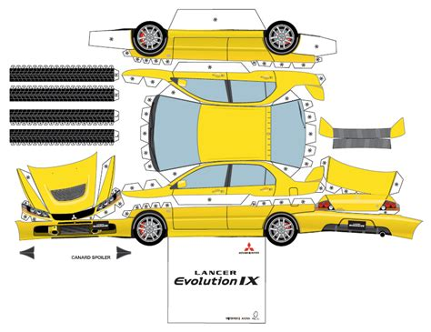 Paper Craft Cars - mitsubishi paper cars cartype