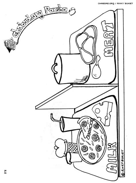 Why Do Kosher Kitchens Two Of Everything by Mishpatim Coloring Pages Family Parshah Parshah