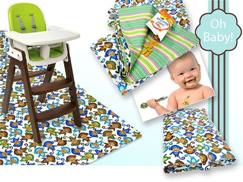 Splat Mat Baby oh baby with fabric splat mat with a carrying