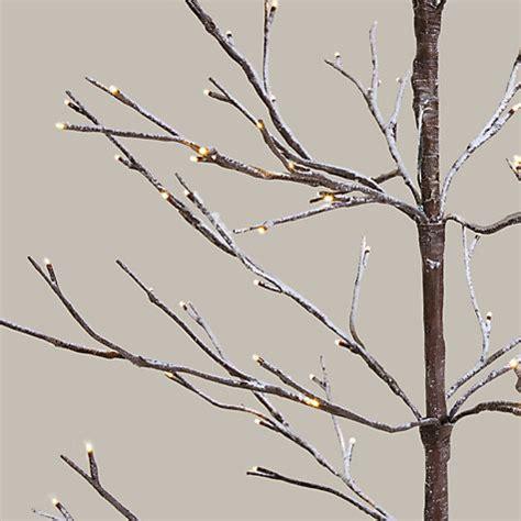 buy john lewis 4ft pre lit snowy twig christmas tree