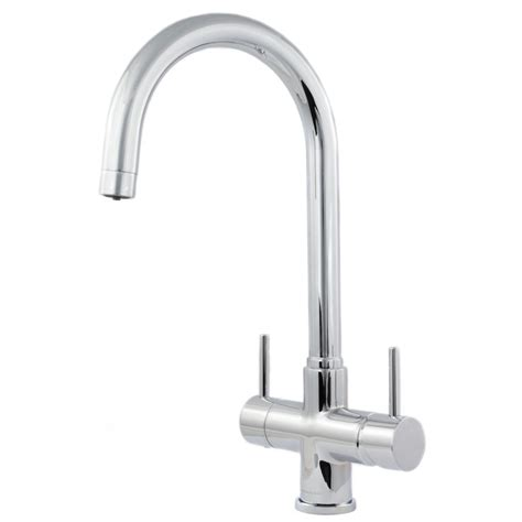 Soft Flow Kitchen Taps by Verona 2 Lever 3 Way Kitchen Tap Softeners