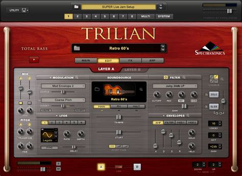 Spectrasonics Trillian Bass spectrasonics products trilian total bass module