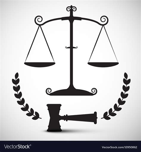 Justice Scales Symbol Law Hammer - Gavel Pictogram Law Scale Of Justice