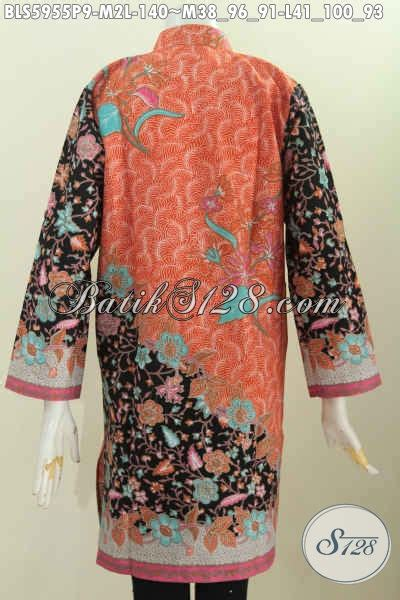 Gamis Hijaber Pakai Kerah 101 jual blus batik wanita lengan panjang cocok untuk muslimah