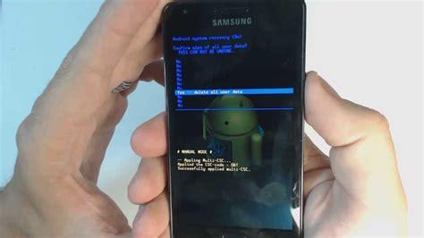 reset samsung s2 samsung galaxy s2 i9100 hard reset youtube
