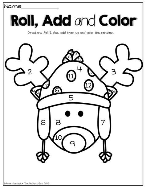 printable reindeer worksheets december no prep packet kindergarten count cute