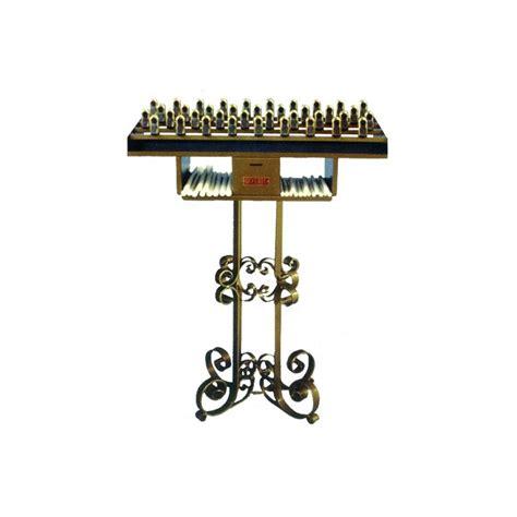 candelieri votivi candeliere votivo a molla in ferro battuto per candele di cera