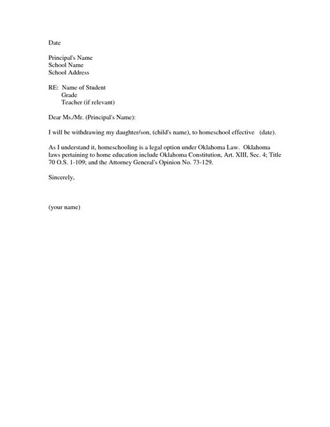 Request Letter For Withdrawal From School Withdrawal From School Letter Template Letter Template 2017