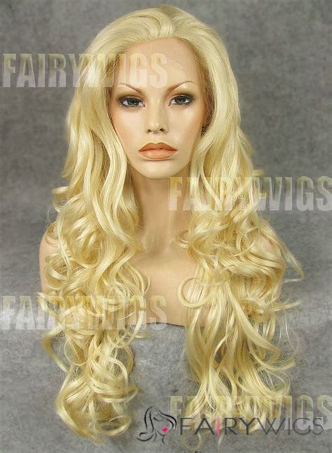 front hair smoothing back wavy super smooth long blonde female wavy lace front hair wig
