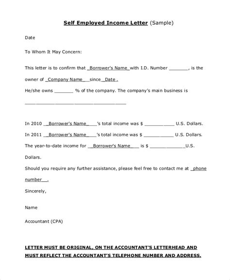 Proof Of Housing Letter Proof Of Income Letter 16 Free Word Pdf Documents