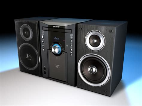 sharp shelf stereo