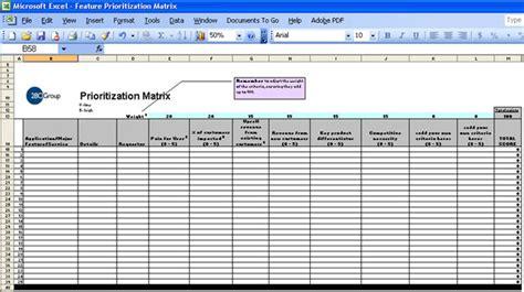 Feature Prioritization Roadmap Matrix Screenshot Page Project Prioritization Template