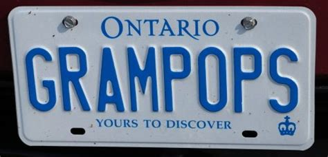 ontario vanity licence plate grops automotive