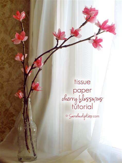 things to make tissue paper cherry blossom tutorial