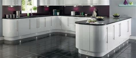 white gloss curved kitchen units curved units with gloss white and grey top lighting a bit