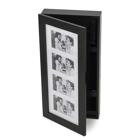 photo frame jewelry armoire elegant wall mount 4 photo frame holder jewelry cabinet