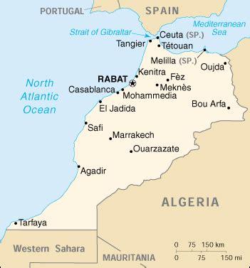 mappa marocco cartina geografica e risorse utili