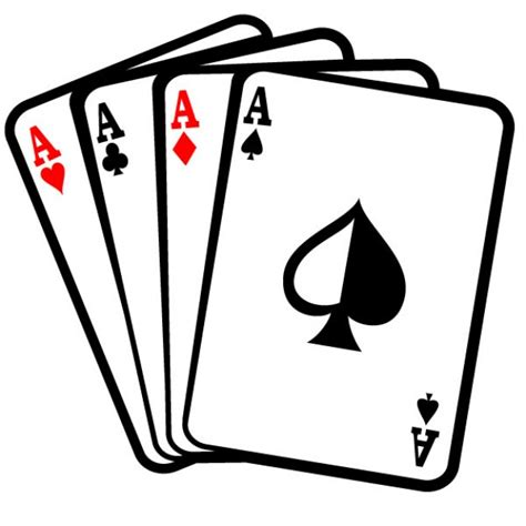 cards clipart four aces cards clip vector free