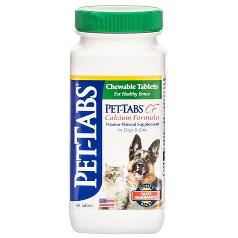 calcium supplements for dogs pet tabs pet tabs cf calcium formula vitamin mineral supplement for dogs cats