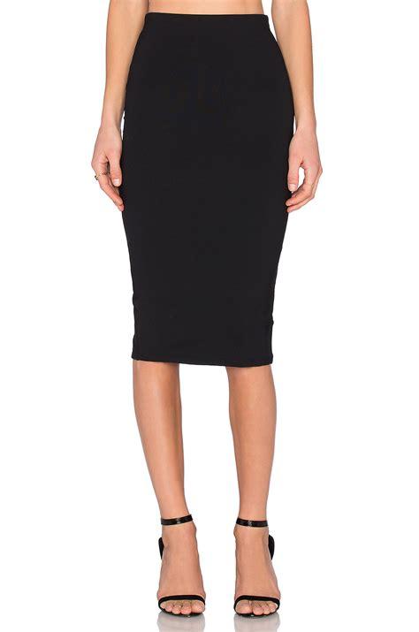 Slit Back Midi Skirt donna mizani back slit midi skirt in black lyst