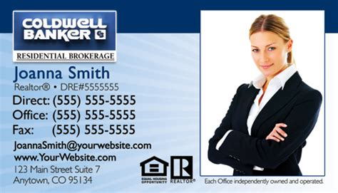 coldwell banker business card template coldwell banker business card design 10b business cards