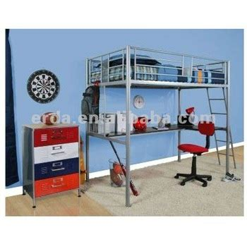 metal frame bunk bed with computer desk buy