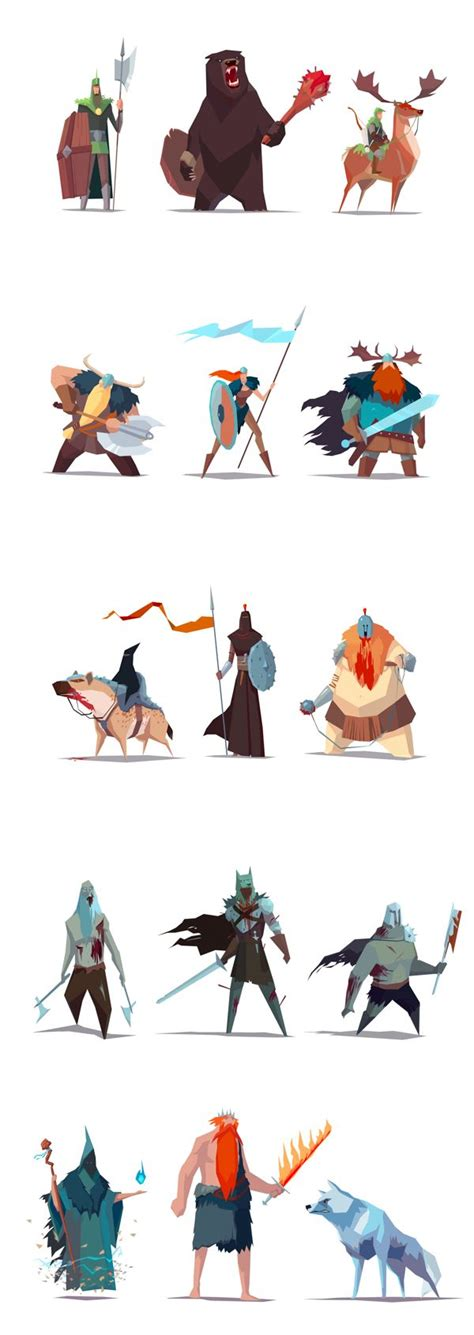 Design Game Characters Online | rts game visual development art direction character