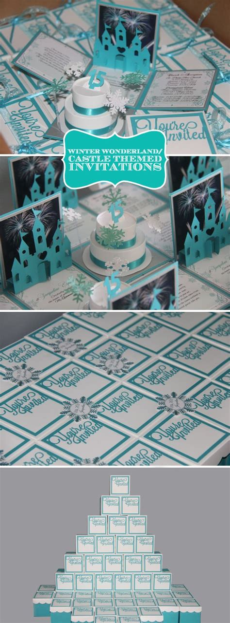 winter quinceanera invites can be customize