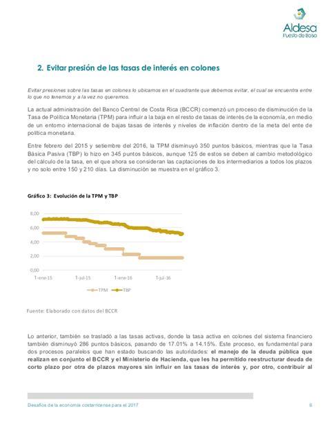 inflacion 2015 costa rica desaf 237 os para la econom 237 a de costa rica en 2017
