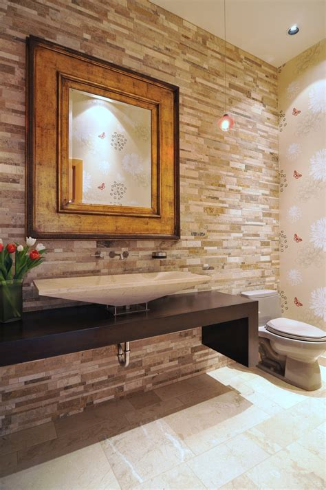 powder room backsplash ideas 71 best travertine design images on pinterest backyard
